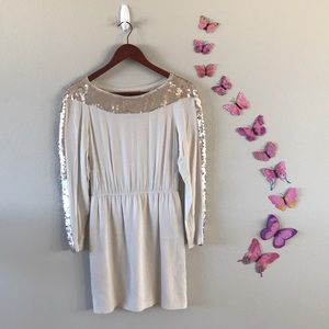 Bcbg long sleeve sequin dress
